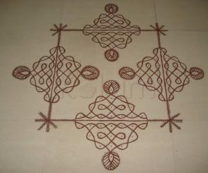 Kolam after a small break