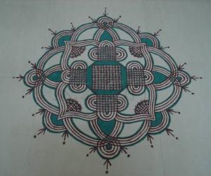 Kolam for Panguni Uthiram