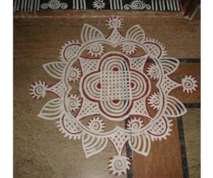 Rangoli: Padi Kolam For Thamizh Puthaandu