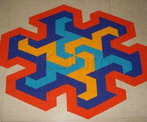 Dotted Kolam Floor version of the Puzzle