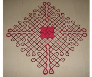 Colour Chikku  Kolam
