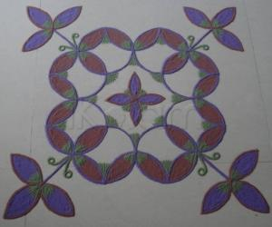Dotted Kolam in Colours