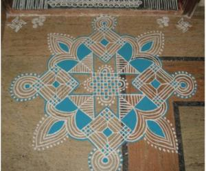 Navaratri Second day kolam