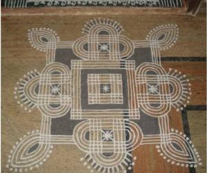 Navaratri Fifth  day kolam