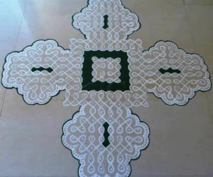 Dotted Kolam-Floor version