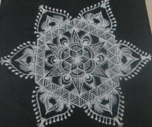 Free hand design in black and white