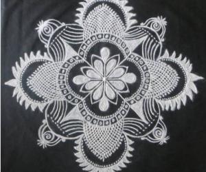 Rangoli: Freehand rangoli In Black and White