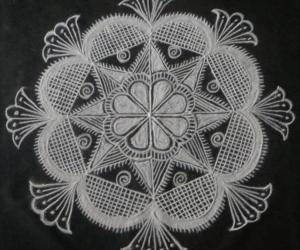 Rangoli: Free hand black and white