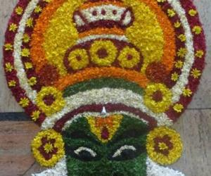 Rangoli: Onam Pookolam-Advance wishes for Onam