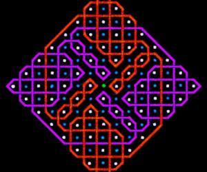 A rangOli with 1 to 15 dots or 8x8 dots - 6