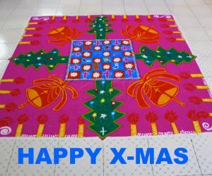 Rangoli: Happy X-MAS