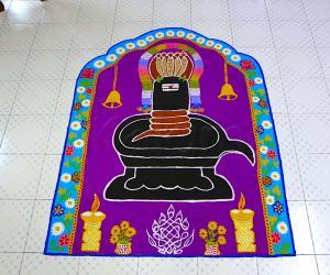Rangoli: Mahashivarathri rangoli