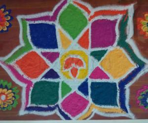 Rangoli: Karthigai rangoli