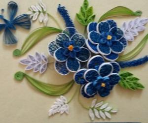 quilling flower design