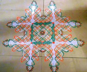 Dotted Bindhi kolam