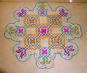 Dotted line kolam