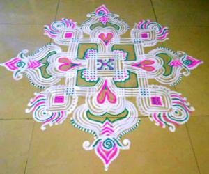 Rangoli: Welcome kolam for New Year