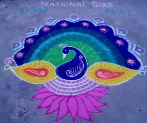 Rangoli: Proud Peacock