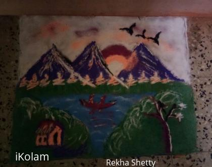Rangoli: My Diwali rangoli done on first day