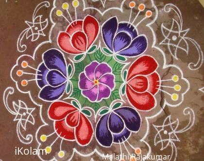 Rangoli: Flower pond