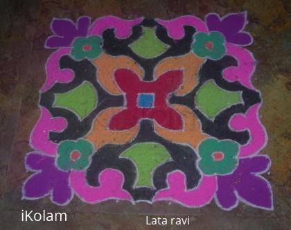 Rangoli: rangoli made during deepavali
