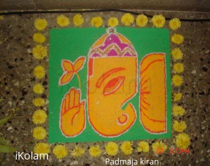 Rangoli: happy vinayaka chaturthi