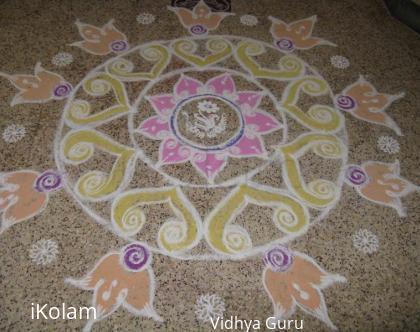 Rangoli: Reproduced Kolam