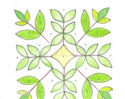 Rangoli: Curry leaves