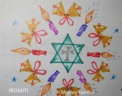 Rangoli: dot kolam for christmas