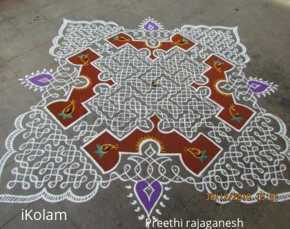 Rangoli: kolam for margazhi contest 2011