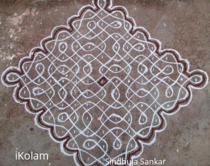 Rangoli: 15x1 Chikku Kolam
