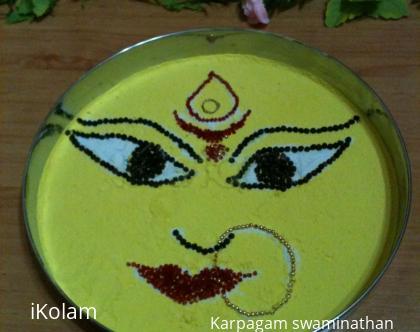 Rangoli: Godess Durga's rangoli
