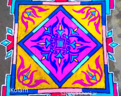 Rangoli: Carpet designed Rangoli