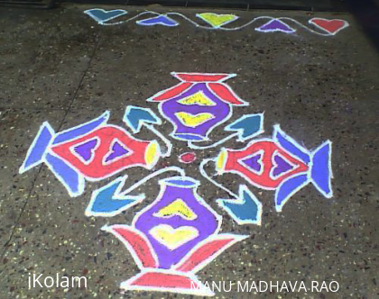 Rangoli: LAKSHMI POOJA - at workplace -  TIME 15-3