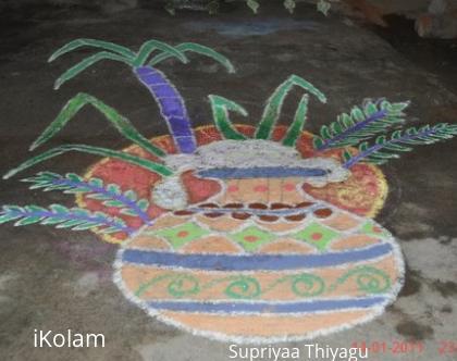 Rangoli: Freehand pongal rangoli