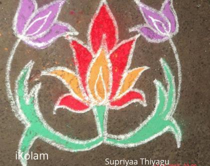 Rangoli: Freehand flower