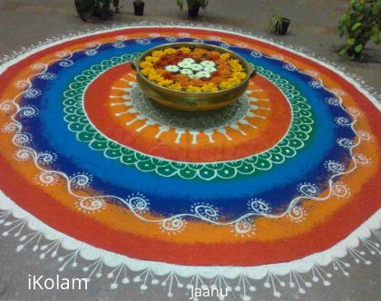 Rangoli: Free Hand Rangoli in our office
