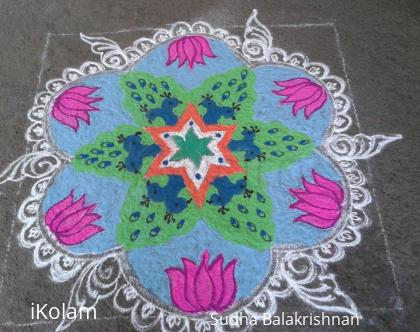 Rangoli: Independence Day kolam or RANGOLI