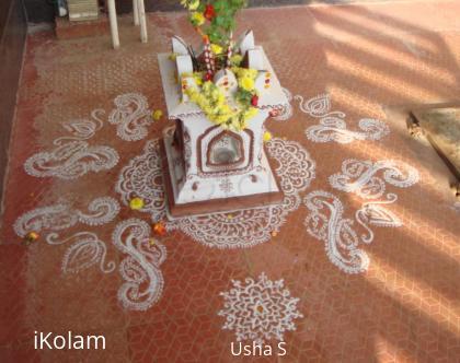 Rangoli: Tulasi Pooja