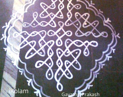 Rangoli: Maa kolam for Navaratri - fourth day