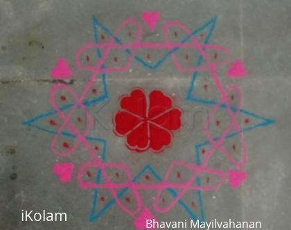 Rangoli: Valentines Day dotted  2017