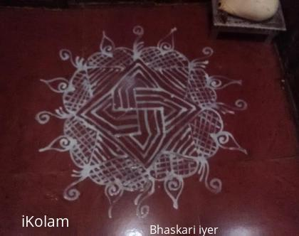 Rangoli: Kolam In puja room
