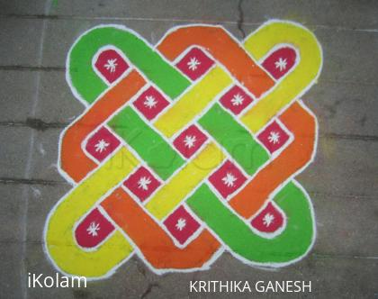 Rangoli: kolam with dots