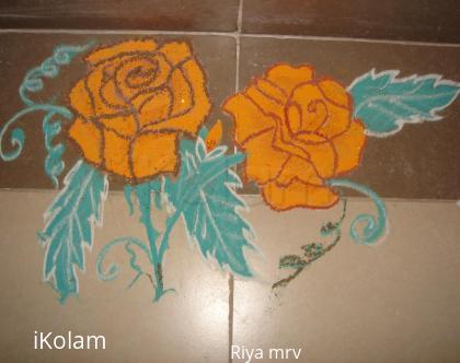 Rangoli: rose