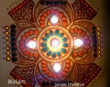 Rangoli: modified Diwali Kolam