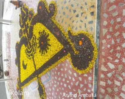 Rangoli: Shiv Parthiv ling 2015