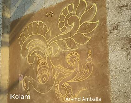 Rangoli: Free hand rangoli lay out