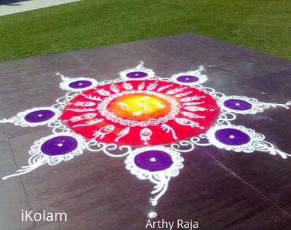 Rangoli: Rangoli at Diwali fair Sydney