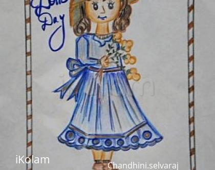Rangoli: Happy doll's  day
