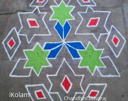 Rangoli: birthday wishes kolam